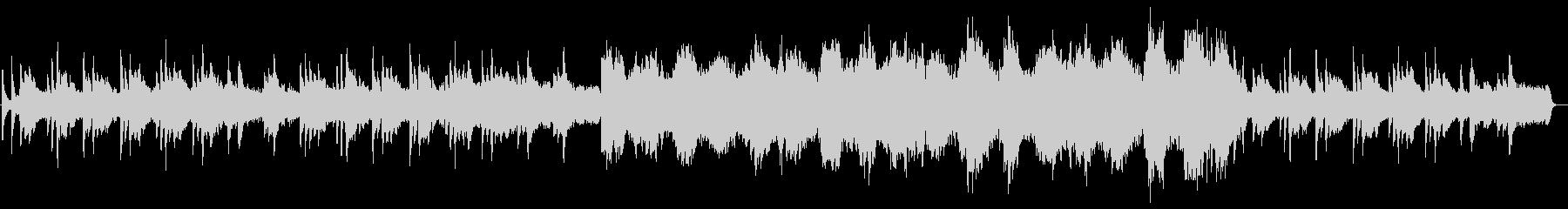 ピアノとストリングスの悲しいアンビエントの未再生の波形