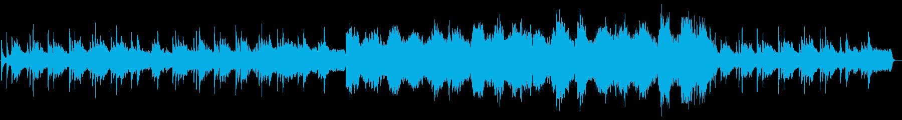 ピアノとストリングスの悲しいアンビエントの再生済みの波形
