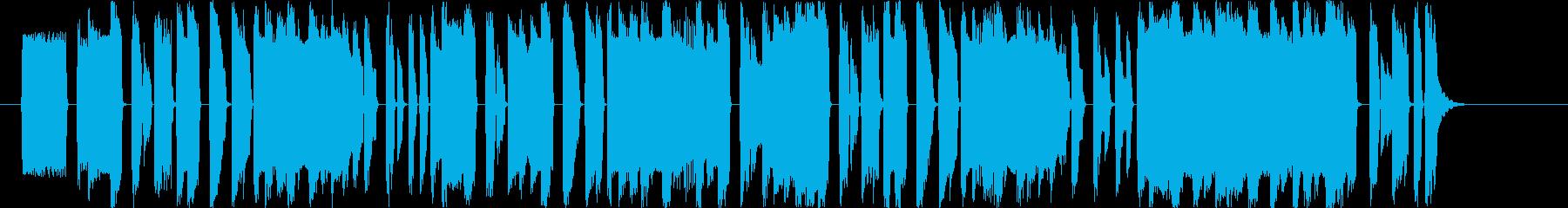 ファミコンがやりたくなる8bit系BGMの再生済みの波形