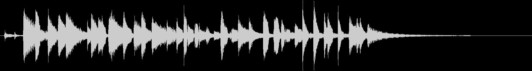 明るい動画オープニング用ジャズアジングルの未再生の波形