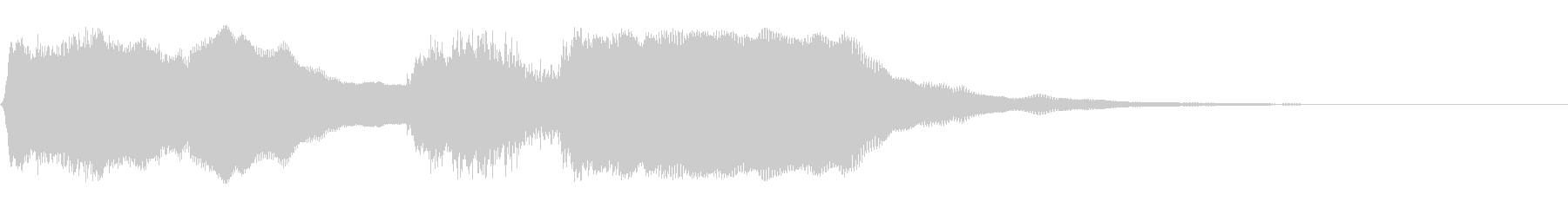 バッハの有名な「チャラリー」のジングル!の未再生の波形