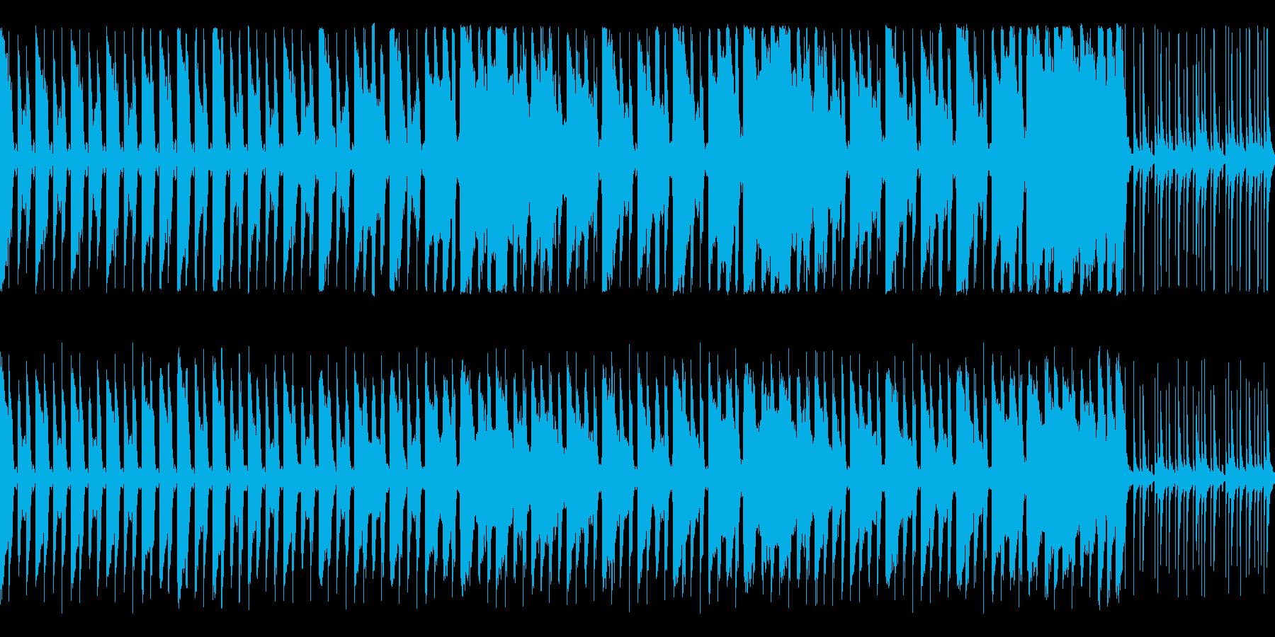 陽気なリズムとハンドクラップ ループ仕様の再生済みの波形