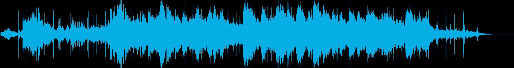 水の印象をイメージ化したヒーリング音楽の再生済みの波形