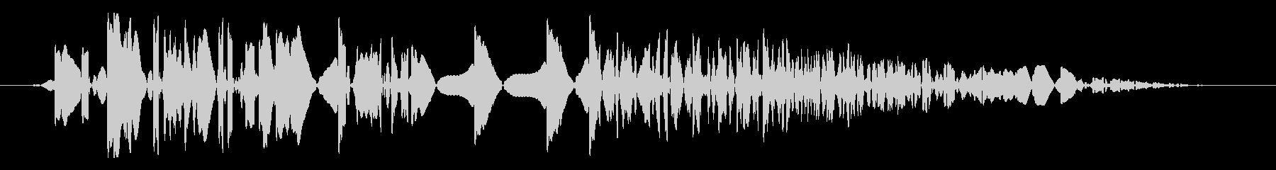 レトロゲーム風 通常攻撃音の未再生の波形