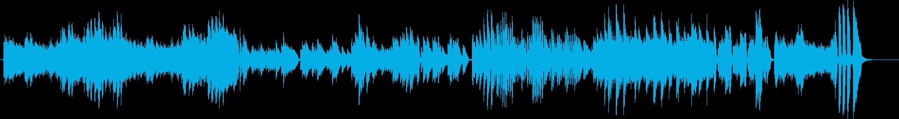 緊迫感ある激しいクラシック風ピアノ曲の再生済みの波形