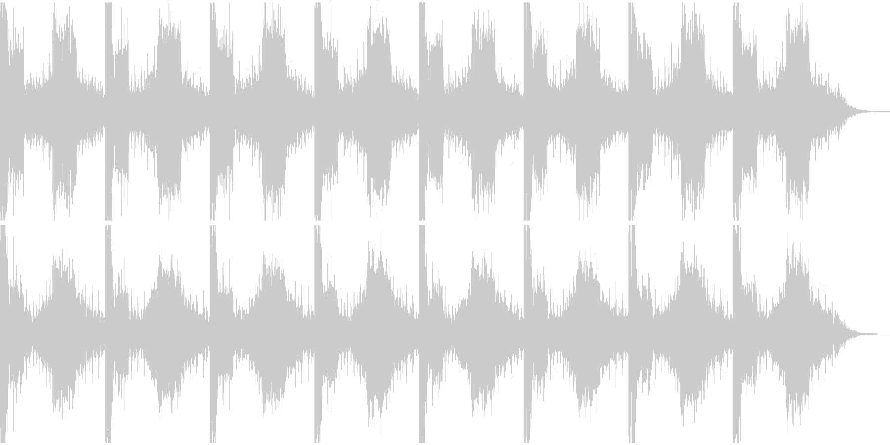 ニュースに使いそうな曲の未再生の波形
