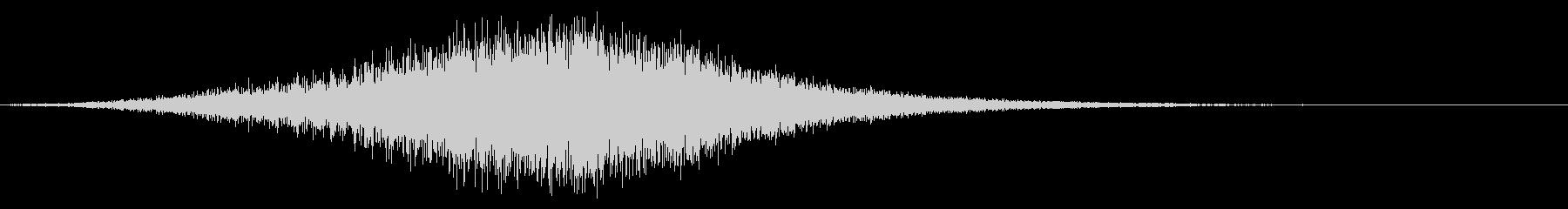 スピーディーで伸びやかな効果音の未再生の波形
