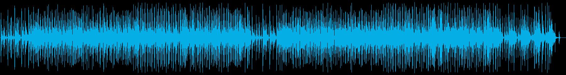のんびりほのぼのとしたギターインストの再生済みの波形