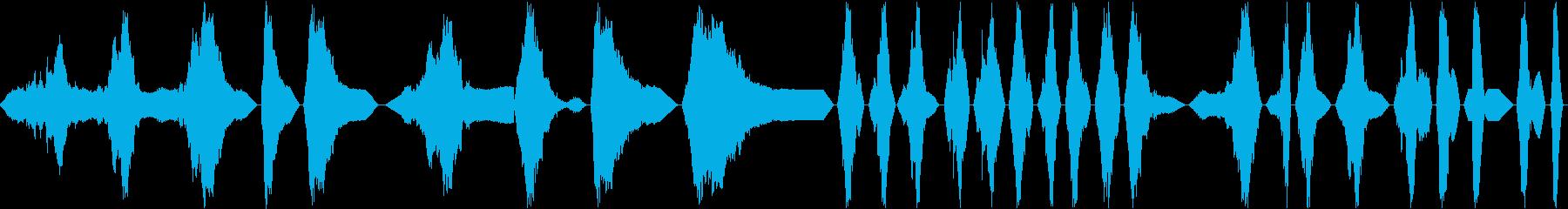渦巻状の金属のパルス、シャープ、ハ...の再生済みの波形