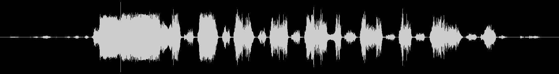 ロバ 泣く01の未再生の波形