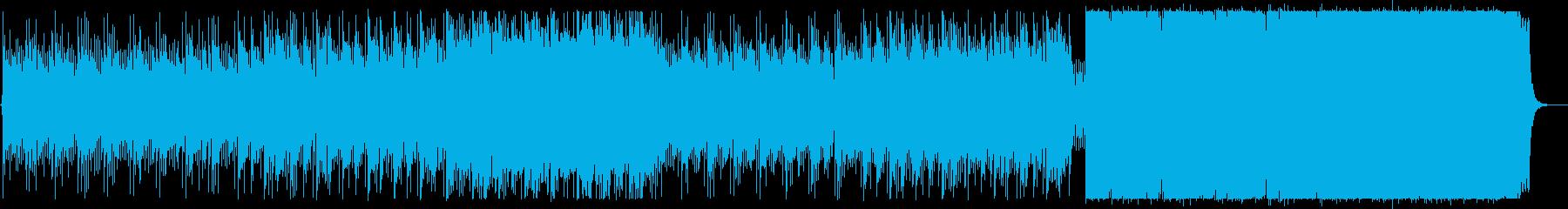 シリアスで重厚な楽曲の再生済みの波形
