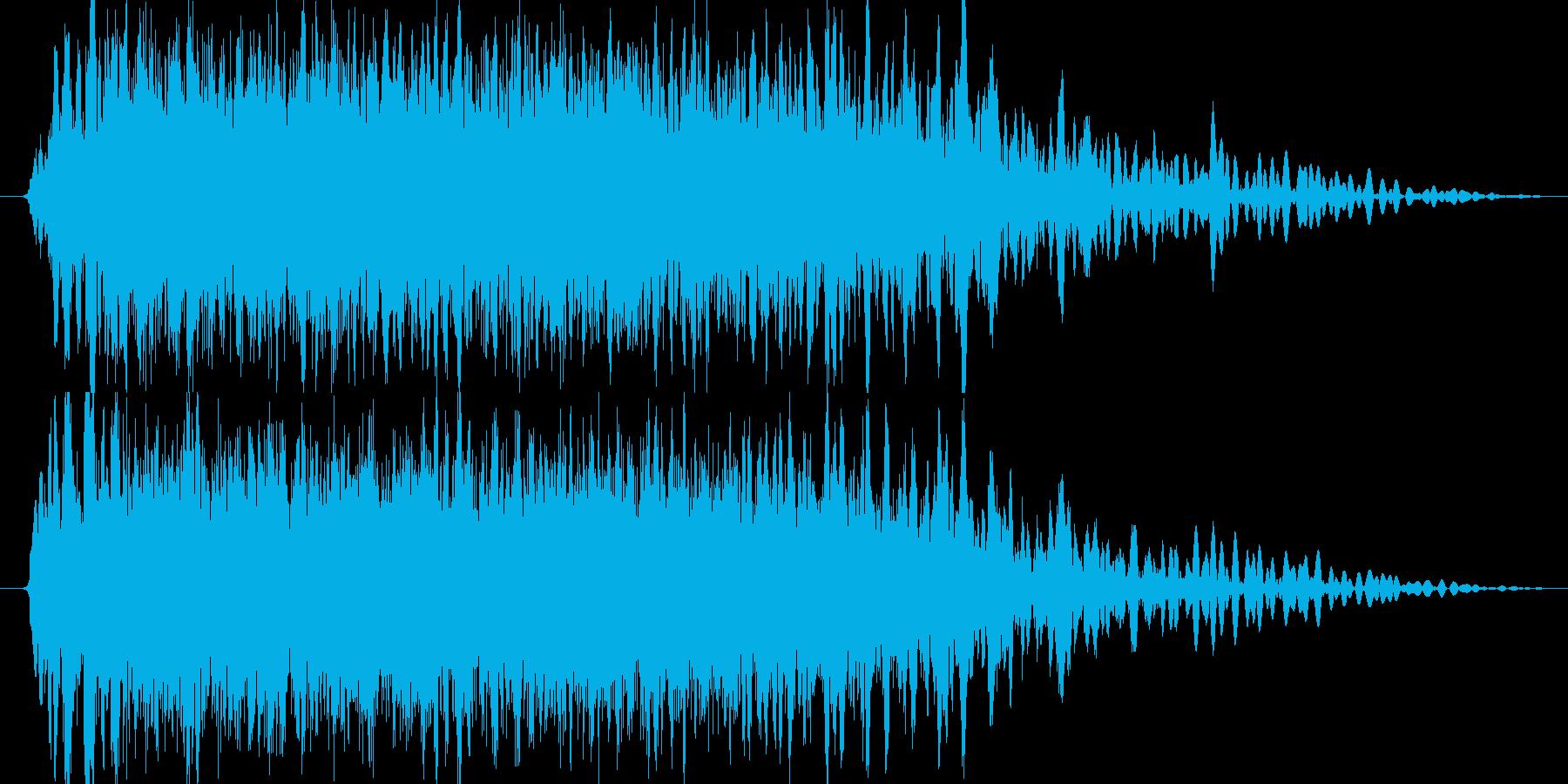 決定/ボタン押下音(爽快感重視)の再生済みの波形