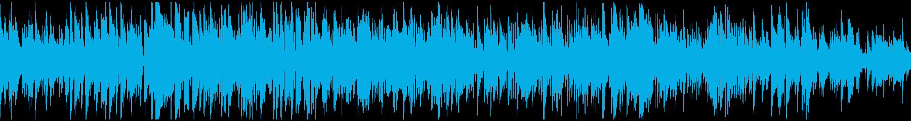 テナーサックス生演奏のボサノバ※ループ版の再生済みの波形