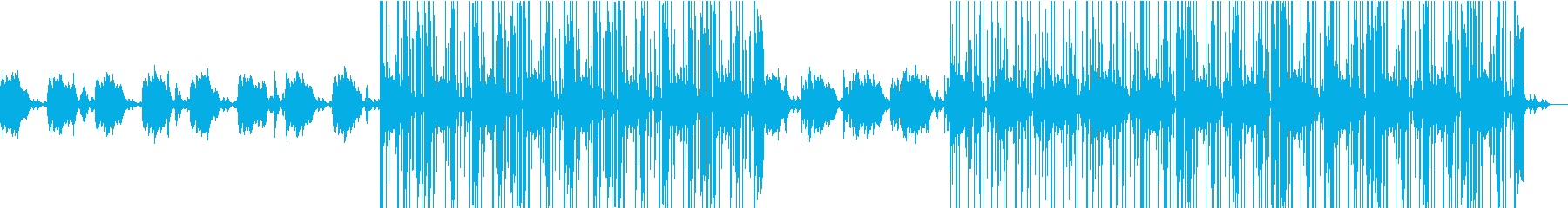 寂しげなエレクトロニカHiphop風の再生済みの波形