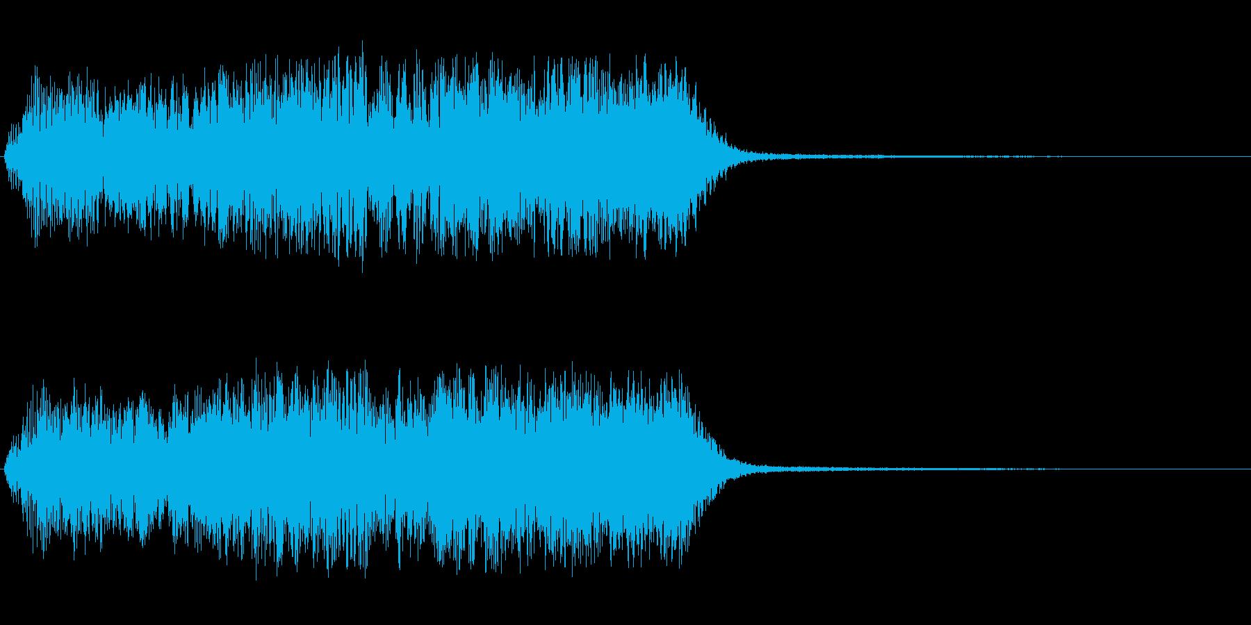 キラキラ系アップ長めの再生済みの波形