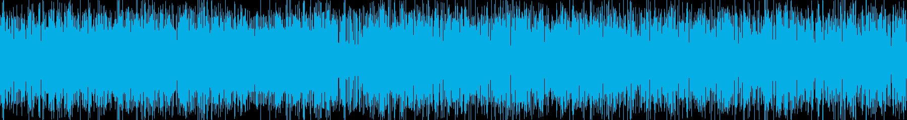 ザー音の再生済みの波形
