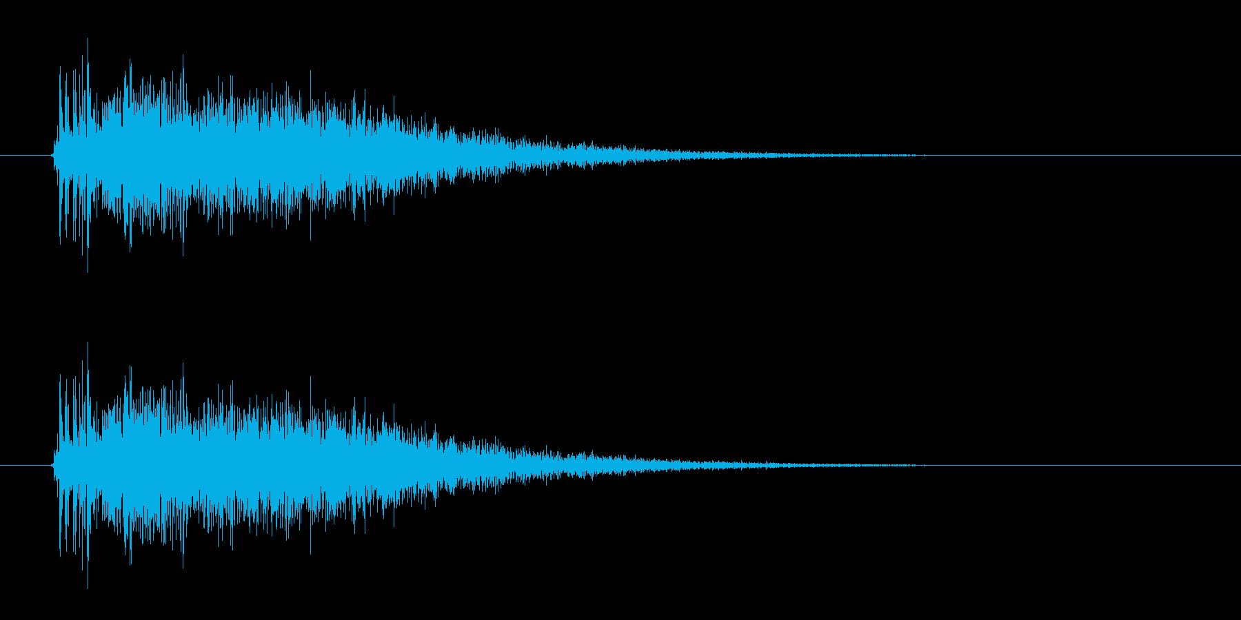レーザー音-13-3の再生済みの波形