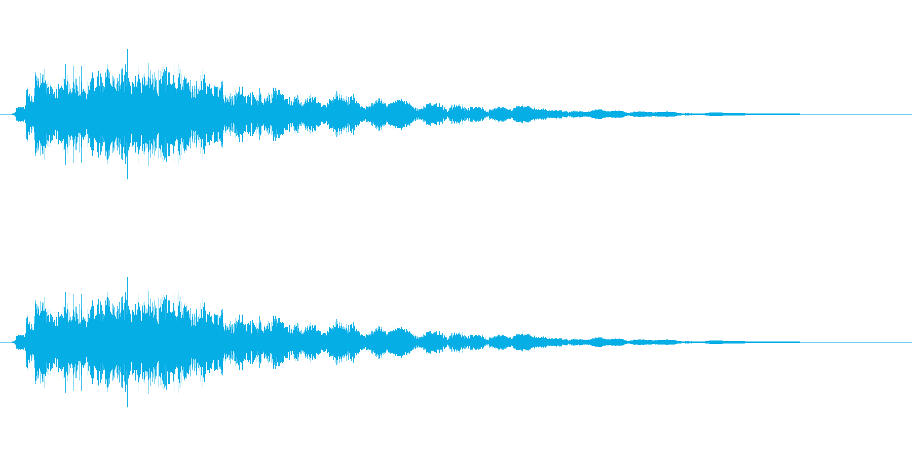 キュピーン(光る)の再生済みの波形
