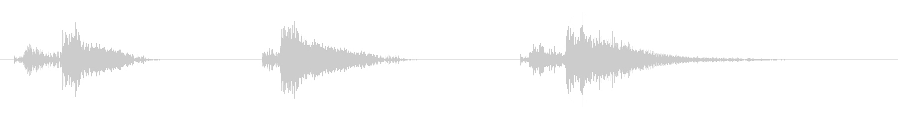 爆発1の未再生の波形
