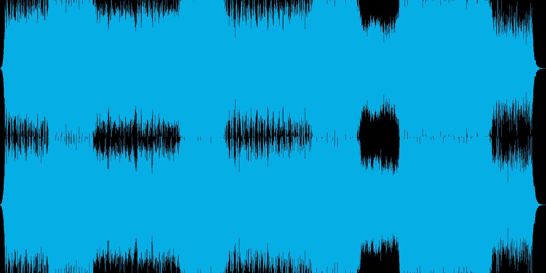 アップテンポなダンスロックの再生済みの波形