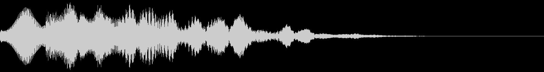 綺麗な電子音のSEの未再生の波形