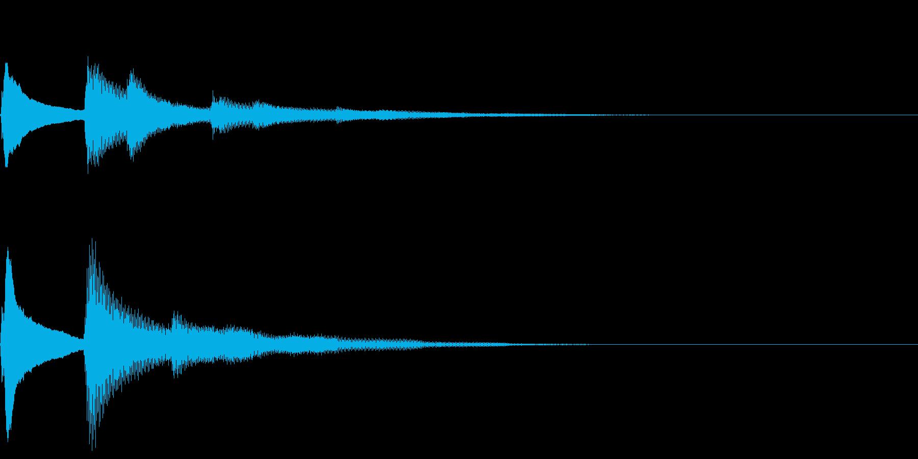 綺麗なピアノ音/回復/アンビエント/和音の再生済みの波形