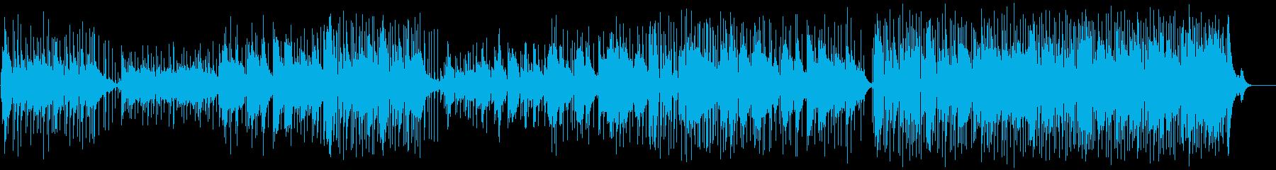 優しいメロディーのバラードの再生済みの波形