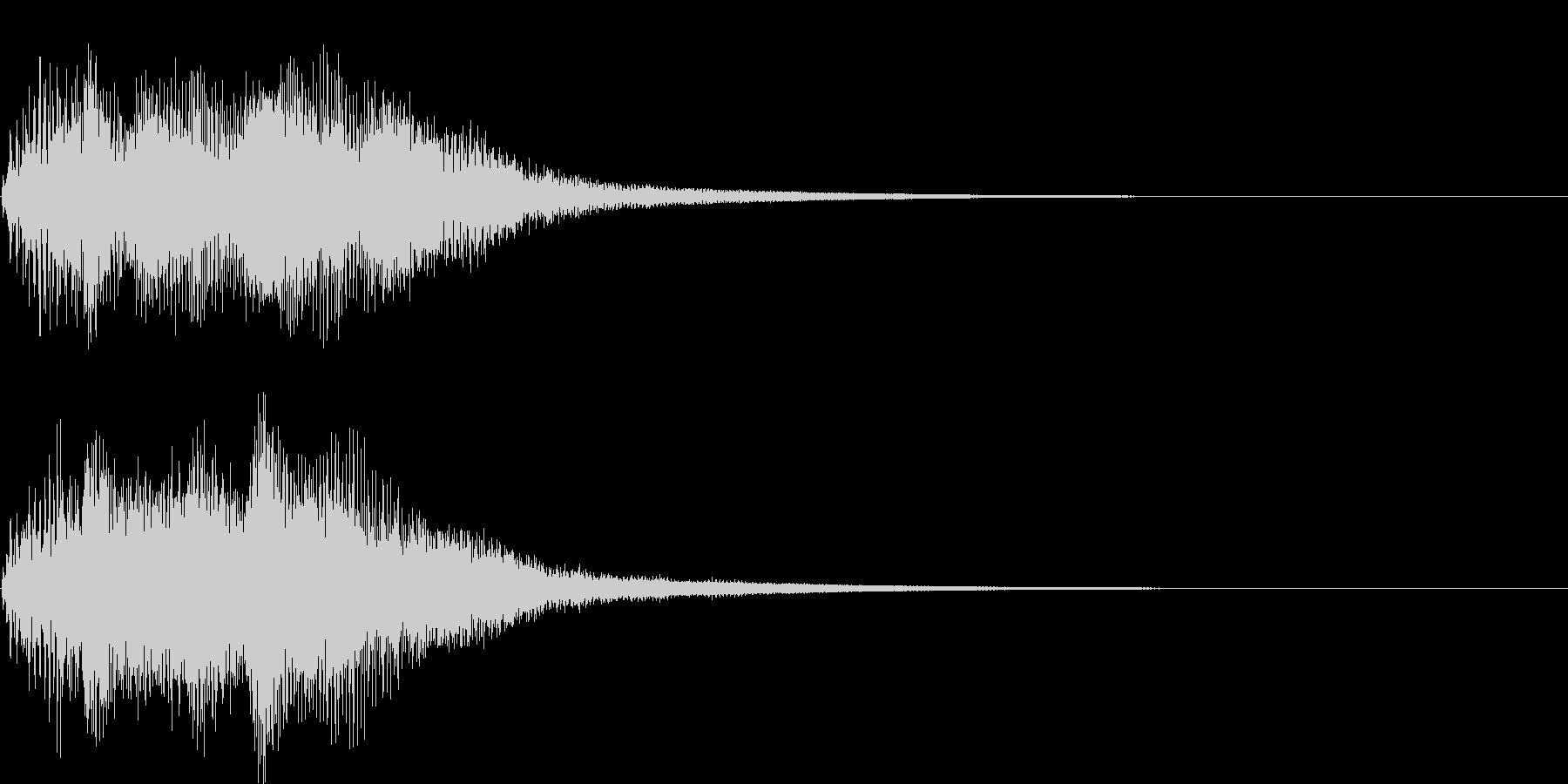 ベンドアップしたCマイナーのリッチな和音の未再生の波形