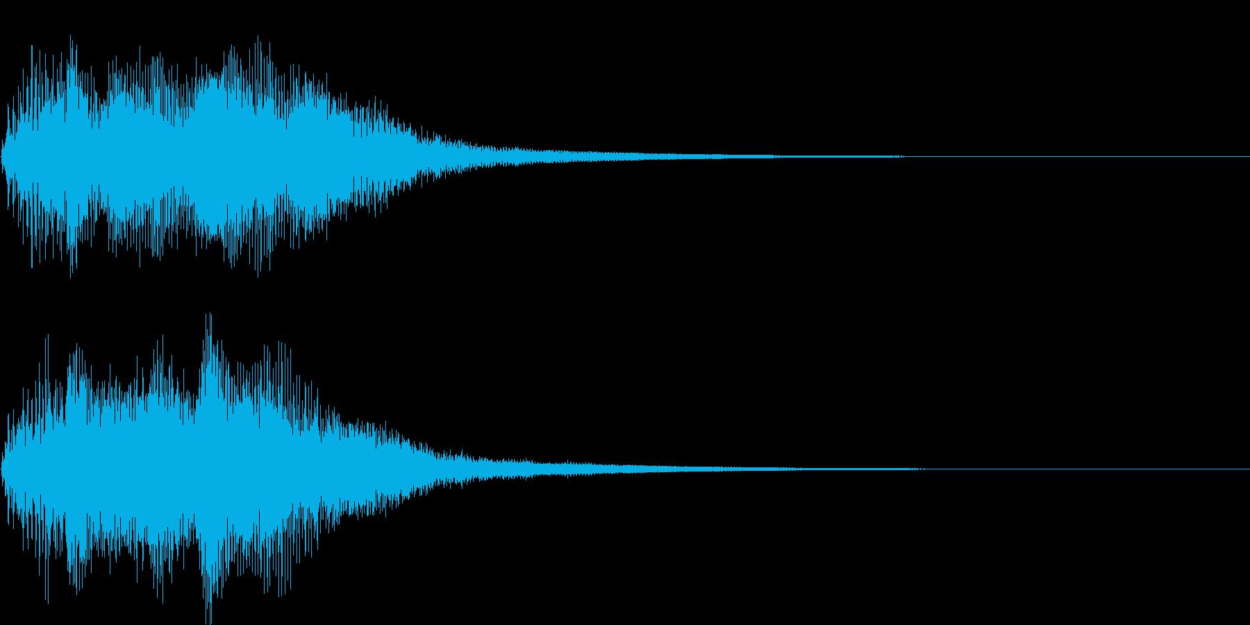 ベンドアップしたCマイナーのリッチな和音の再生済みの波形