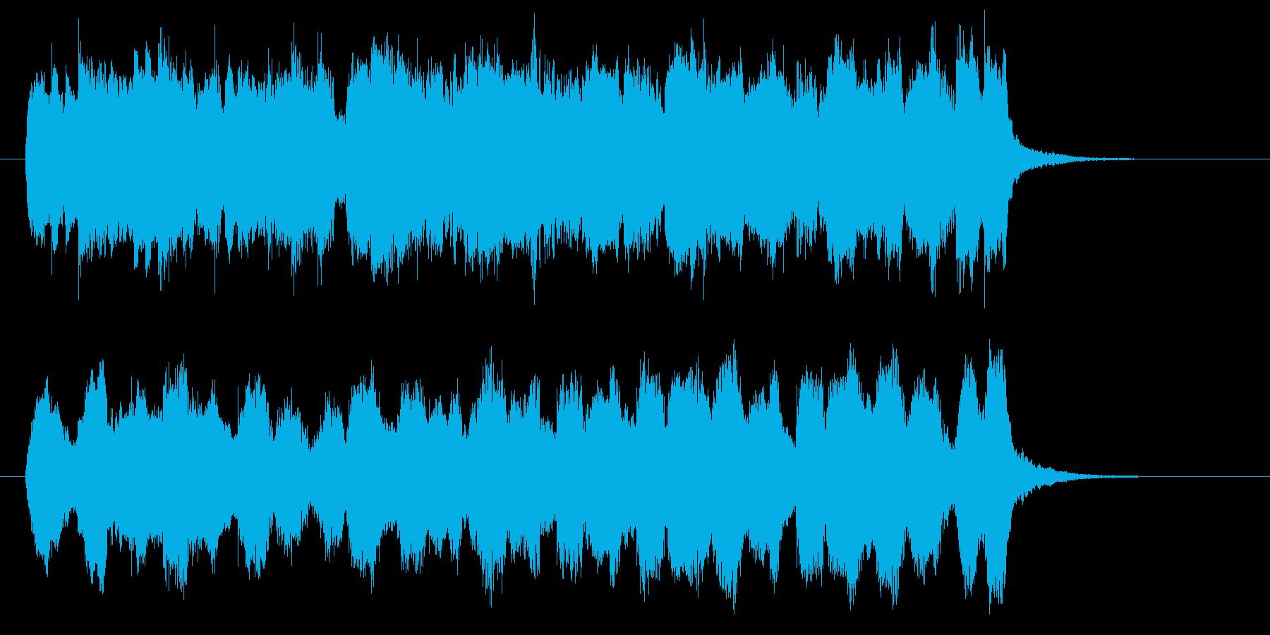 アコーディオンが楽しく響くワルツの曲の再生済みの波形