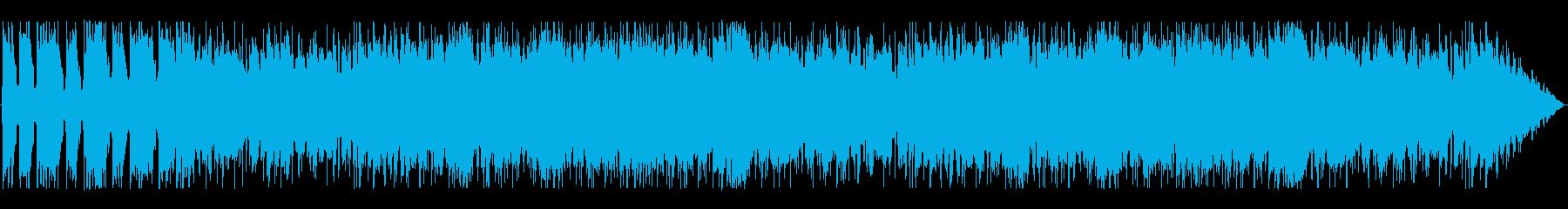 少し重めのメタル風ギターサウンドの再生済みの波形
