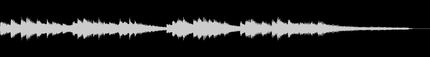 穏やかな15秒のジングル33-ピアノの未再生の波形