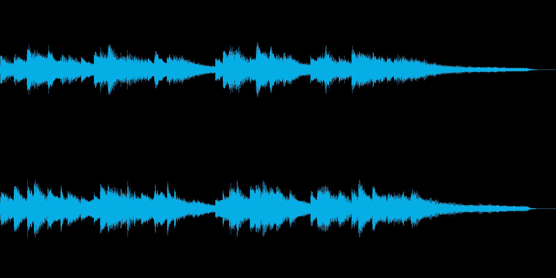 穏やかな15秒のジングル33-ピアノの再生済みの波形