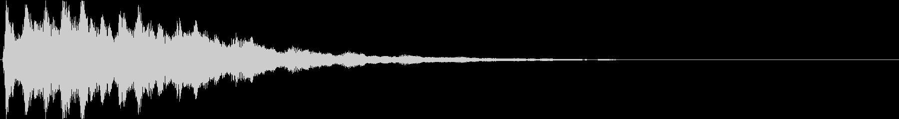 ピン:アニメや漫画で閃く時の音3の未再生の波形