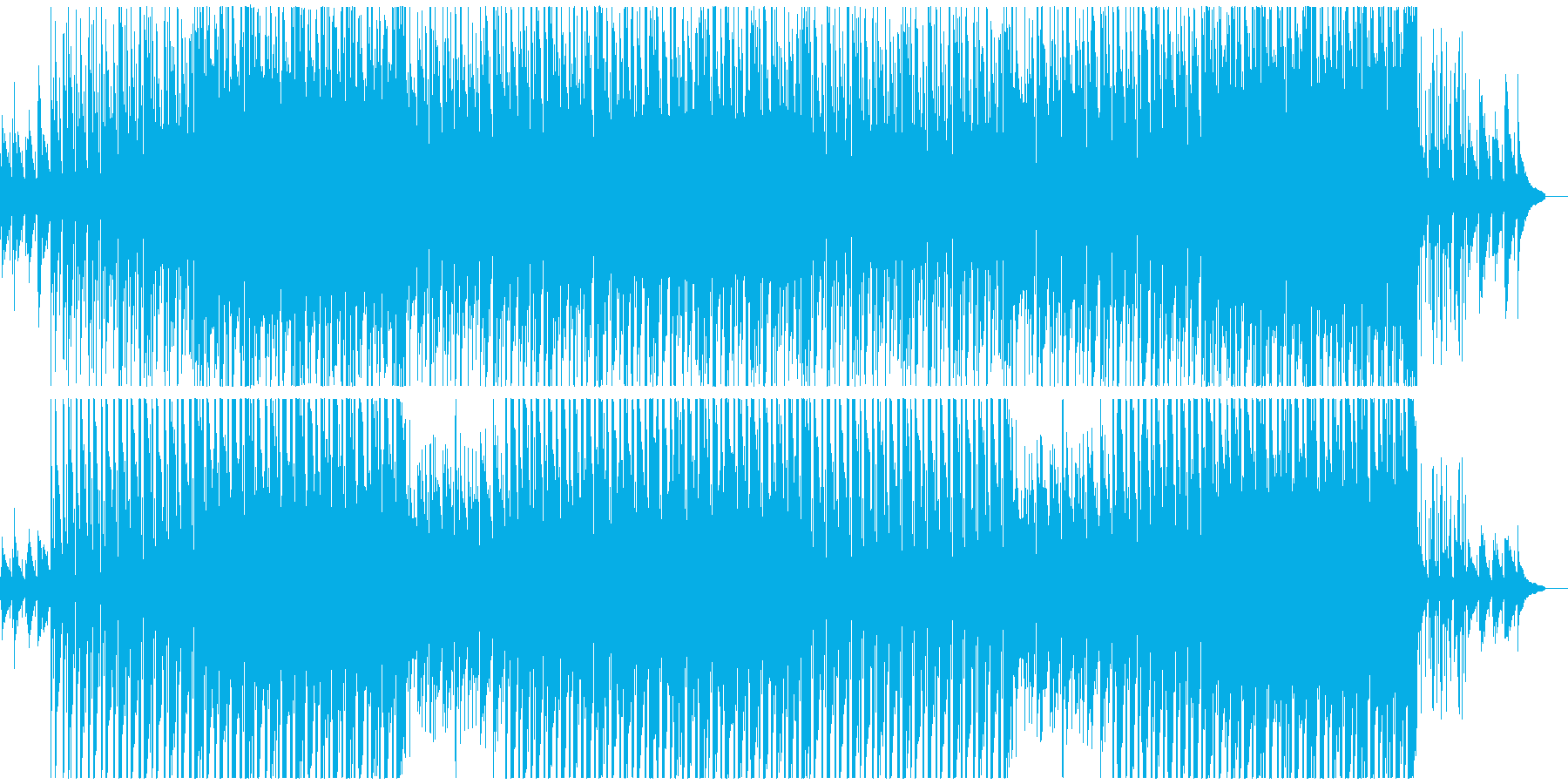 陽だまりのような、ほのぼのピアノフルートの再生済みの波形