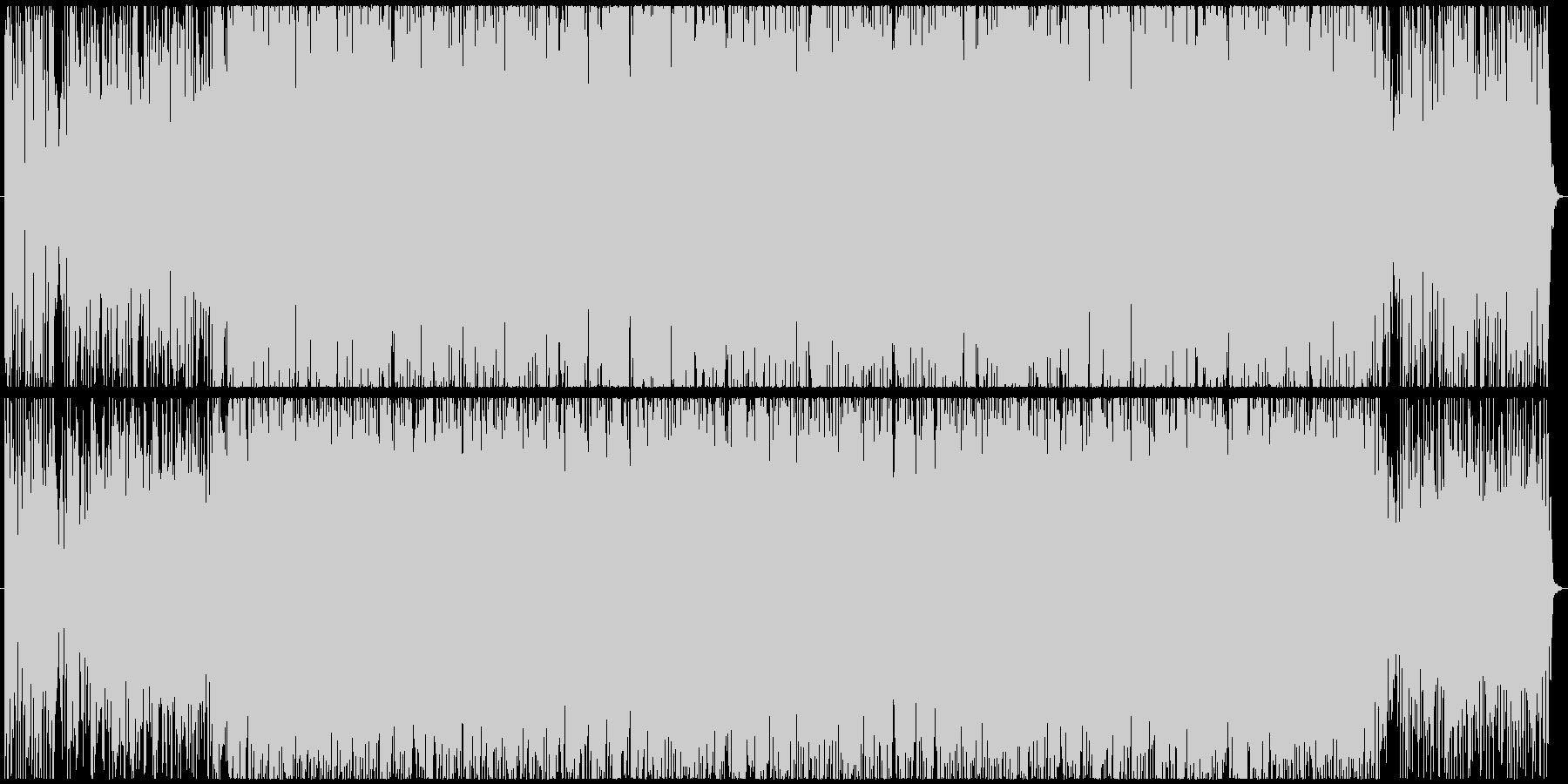 南国の太陽をイメージしたラテン風BGMの未再生の波形
