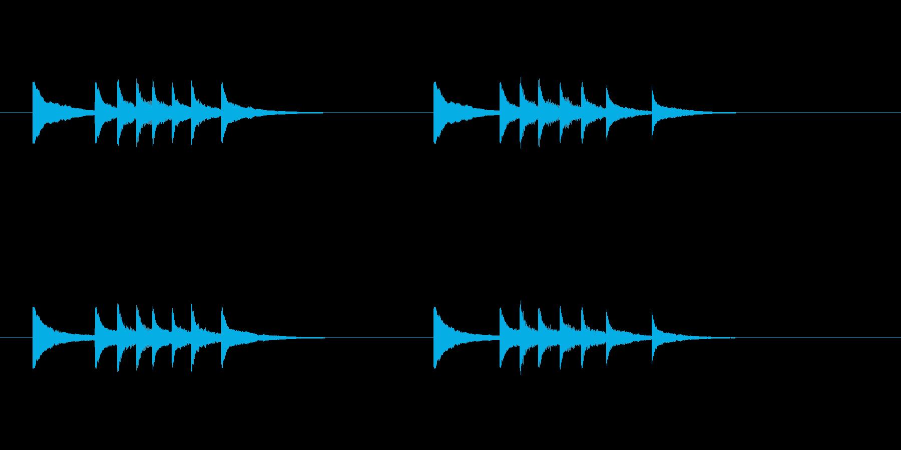 お正月の定番の再生済みの波形