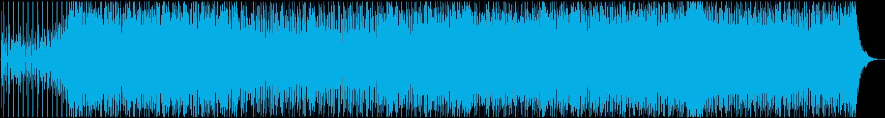可愛らしいダンスポップ 声有りの再生済みの波形
