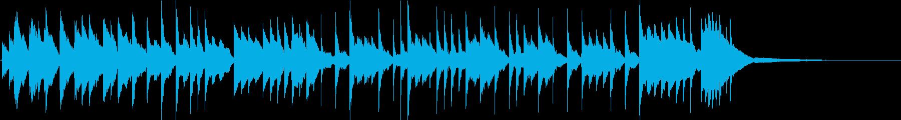 バレンタインをイメージ きれいなピアノ曲の再生済みの波形