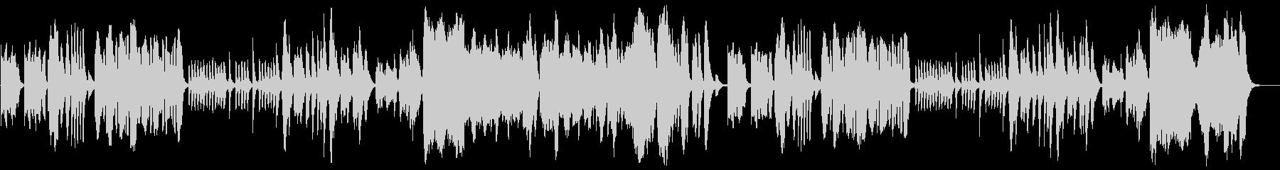 コミカルでほのぼのとした管弦楽の未再生の波形