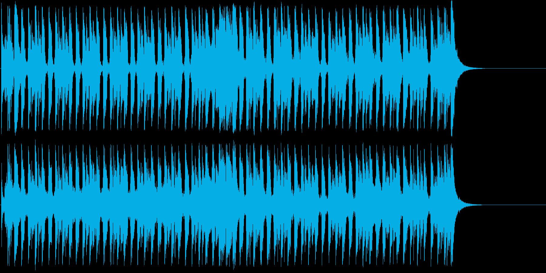 元気で明るいミディアムテンポのポップスの再生済みの波形