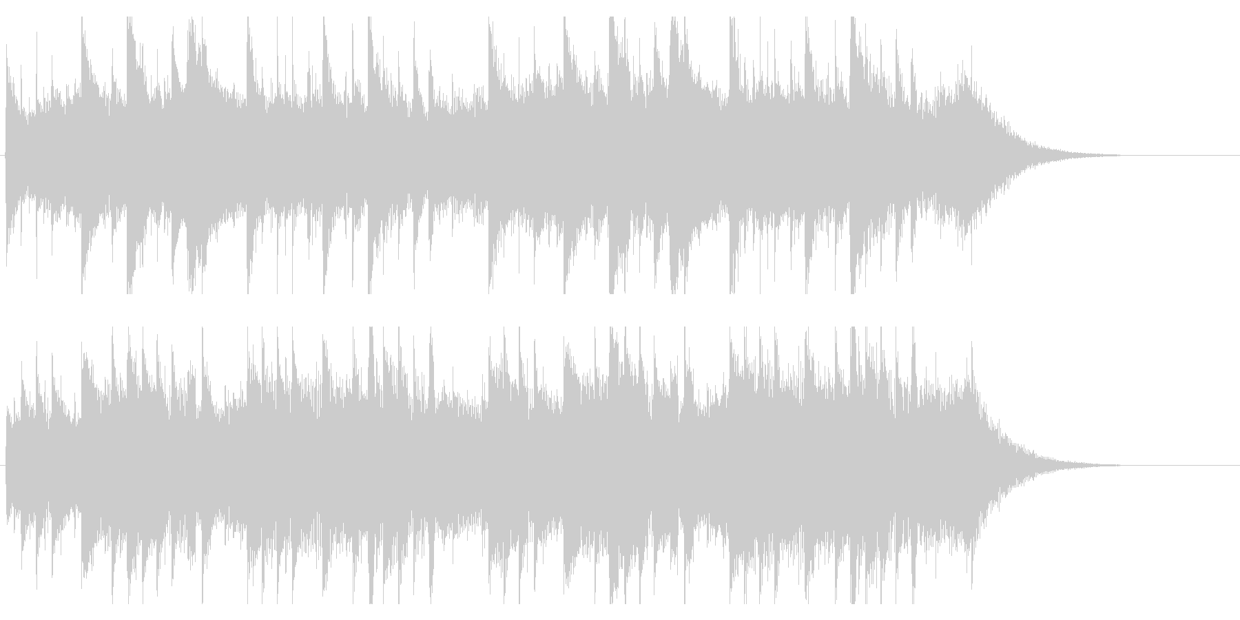 ピアノジングル 優しく感動的ほのぼの癒しの未再生の波形