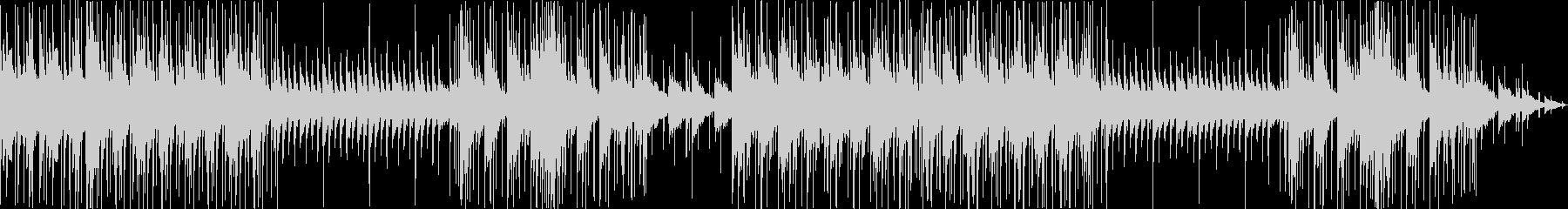 ピアノとドラムによる切なく甘いBGMの未再生の波形