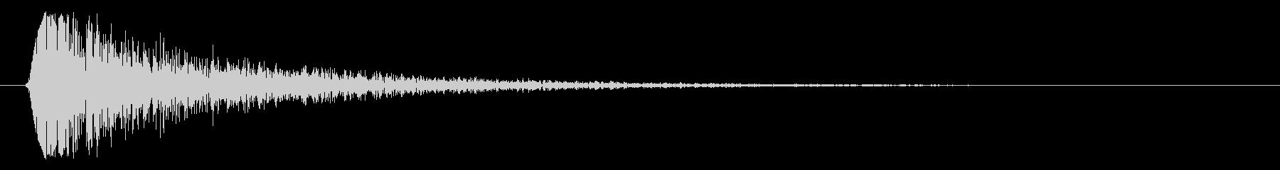 スチール系スネアドラムの音の未再生の波形