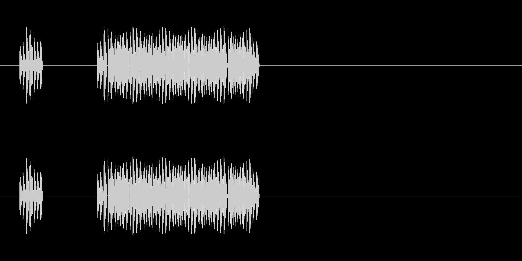 クイズに不正解だった時の音の未再生の波形