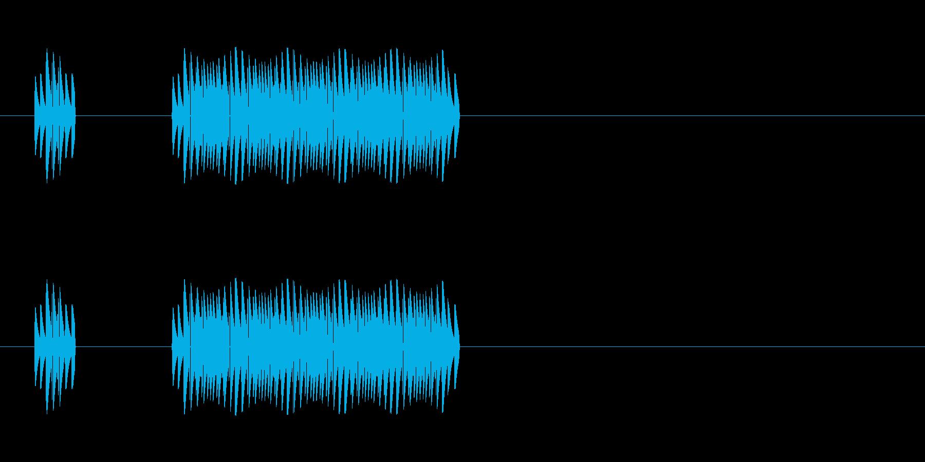 クイズに不正解だった時の音の再生済みの波形