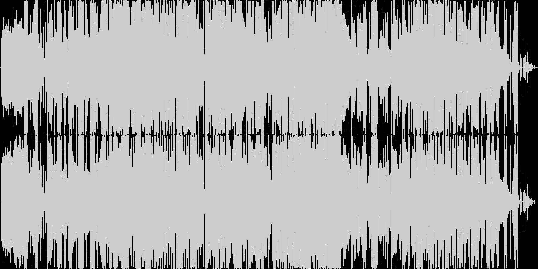 クラシックの要素と現代的なリズムの未再生の波形