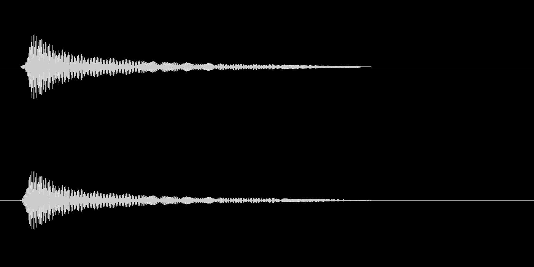 コリッ、ピコッ(短め)の未再生の波形