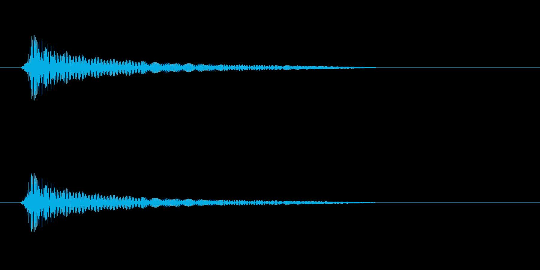 コリッ、ピコッ(短め)の再生済みの波形