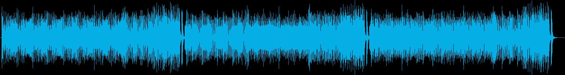 心弾む軽快なジャズナンバーの再生済みの波形